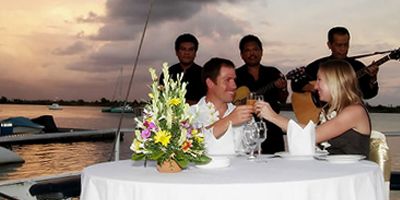 sunset dinner cruise via joglo bali tours